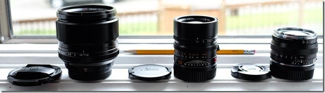 Fuji, Leica, Zeiss